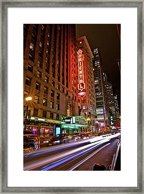 The Oriental Theater Chicago Framed Print