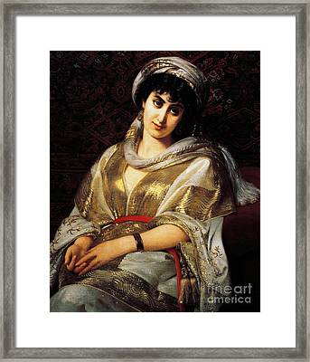 The Oriental Woman Framed Print by Michele Rapisardi
