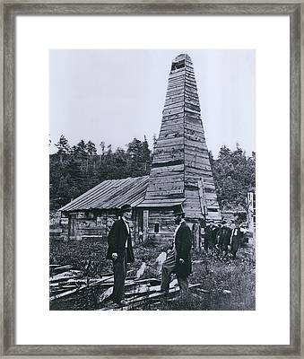 The Original 1859 Drake Oil Well Framed Print by Everett
