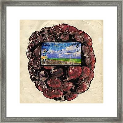 The Blackberry Concept Framed Print by ISAW Gallery