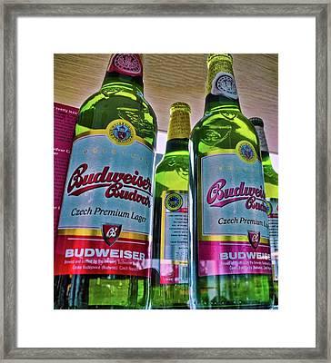 The Original Budweiser Beer Framed Print