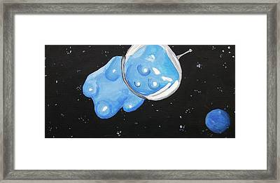 The Original Gummy Bear In Space Framed Print