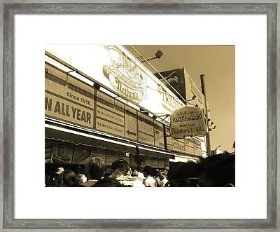 The Original Nathan's Coney Island Framed Print