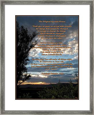 The Original Serenity Prayer Framed Print by Glenn McCarthy Art and Photography