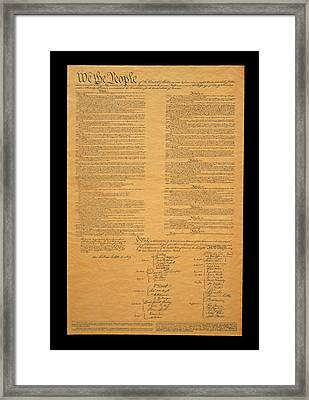 The Original United States Constitution Framed Print by Panoramic Images