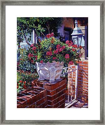 The Ornamental Floral Gate Framed Print