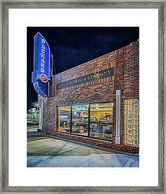 Framed Print featuring the photograph The Orphan Motor Company by Susan Rissi Tregoning