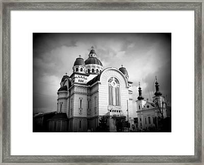 The Orthodox Cathedral And The Saint John The Baptist Church Framed Print