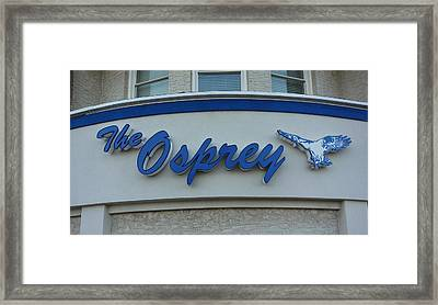The Osprey Marqee Framed Print