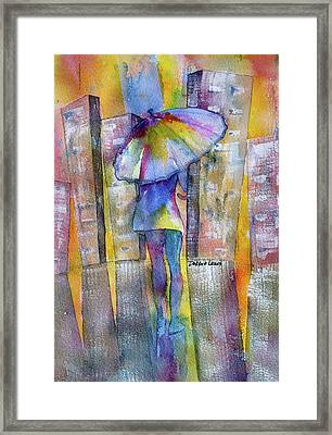 The Other Girl In The City Framed Print