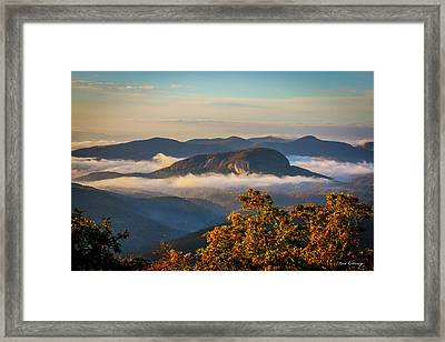 The Other Rock Looking Glass Rock Blue Ridge Parkway Art Framed Print by Reid Callaway