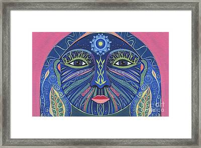 The Other Side 3 - Full Face 3 Framed Print by Helena Tiainen
