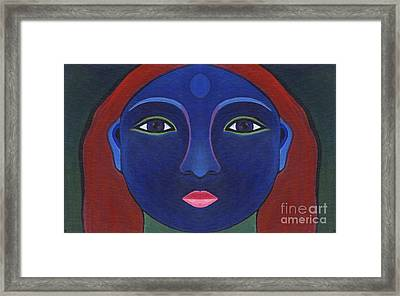 The Other Side - Full Face 1 Framed Print by Helena Tiainen