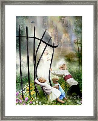 The Other Side Of The Fence Framed Print by Carrie Jackson