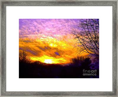 The Other Side Of The Rainbow Framed Print by Robyn King