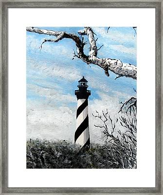 Framed Print featuring the painting The Other View Of Hatteras by Jim Phillips