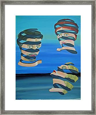 Framed Print featuring the painting The Other Woman Inspired By Escher by Eric Kempson