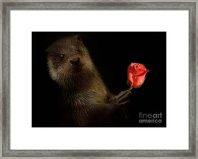 Framed Print featuring the photograph The Otter by Christine Sponchia
