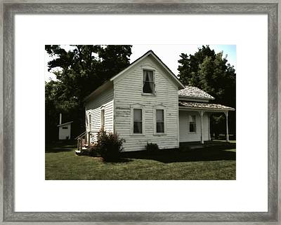 The Out House Is Out Back Framed Print