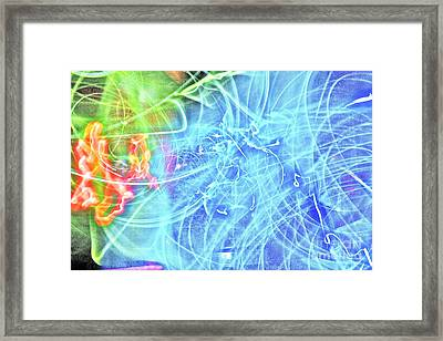Framed Print featuring the painting The Outburst by Xn Tyler