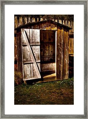 The Outhouse At Fort Nisqually Framed Print by David Patterson