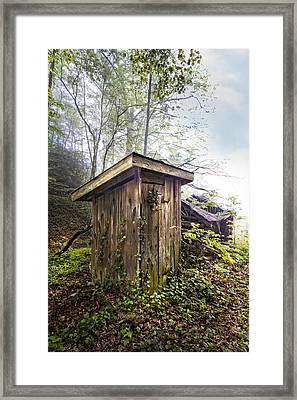 The Outhouse Framed Print by Debra and Dave Vanderlaan