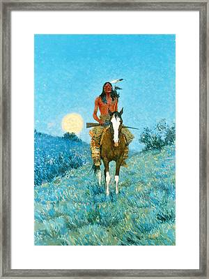 The Outlier  Framed Print by Frederic Remington