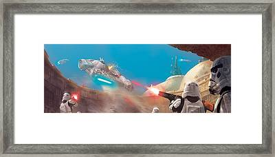 The Outrider Escapes Framed Print by Ryan Barger