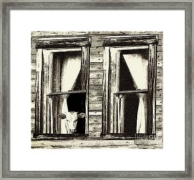 The Outside Inn - Milkshakes On The House Framed Print by Geordie Gardiner