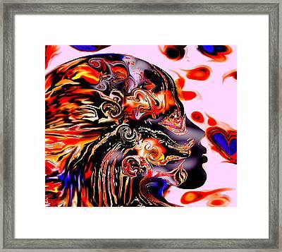 The Outsider's Wild Spirit. Framed Print by Abstract Angel Artist Stephen K