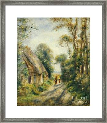 The Outskirts Of Berneval  Framed Print