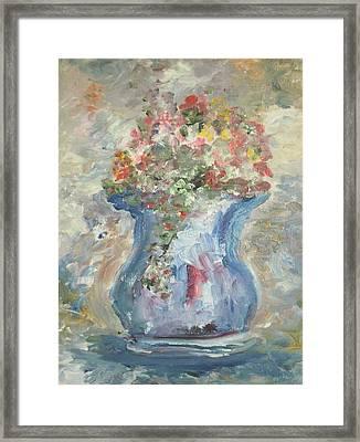The Oval Vase Framed Print by Edward Wolverton