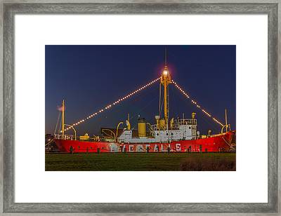 The Overfalls Light Ship, Delaware Framed Print