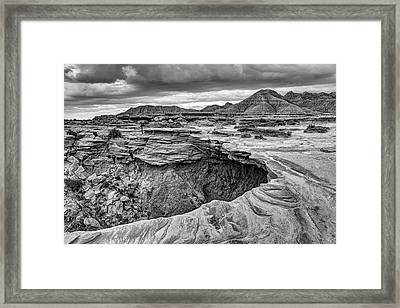 The Overhang - Black And White - Toadstool Geologic Park Framed Print
