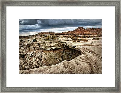 The Overhang - Toadstool Geologic Park Framed Print by Nikolyn McDonald