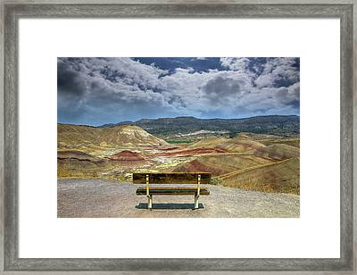 The Overlook At Painted Hills In Oregon Framed Print
