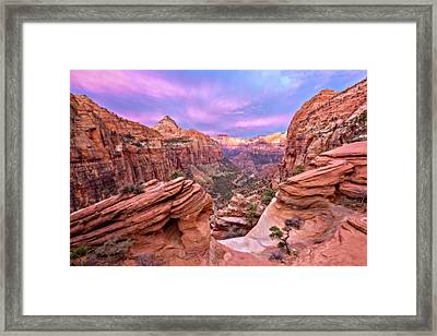 Framed Print featuring the photograph The Overlook by Eduard Moldoveanu