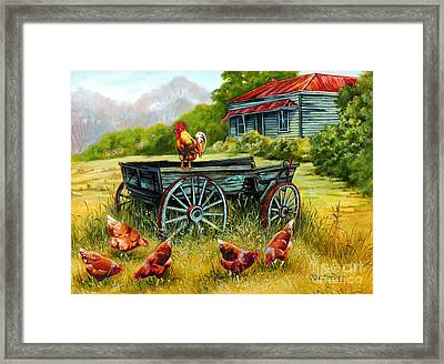 The Overseer Framed Print by Val Stokes