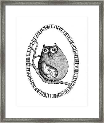 The Owl And The Robots  Framed Print