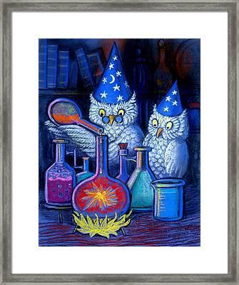 The Owl Chemists Framed Print