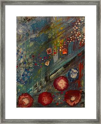 The Owl  The Fox And The Poppies Framed Print