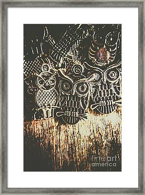 The Owlactic Gathering Framed Print by Jorgo Photography - Wall Art Gallery