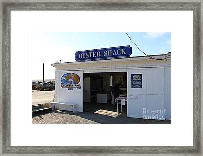 The Oyster Shack At Drakes Bay Oyster Company In Point Reyes California . 7d9832 Framed Print