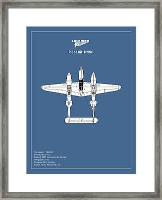The P-38 Lightning Framed Print