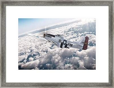 The P-51 Mustang Framed Print by David Collins