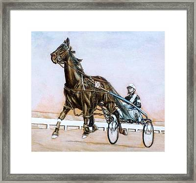 The Pacer Framed Print by Lilly King