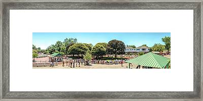Framed Print featuring the photograph The Paddock Area At Monmouth Park by Kristia Adams