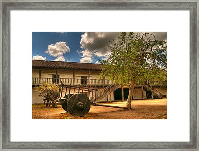 The Padre's Backyard Framed Print by Mick Burkey