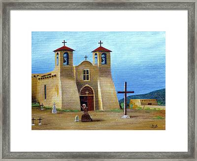 The Padre's Prayer Framed Print