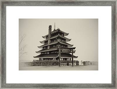 The Pagoda - Reading Pa. Framed Print by Bill Cannon